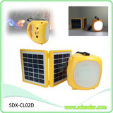 3W double panel portable led lamp solar camping light