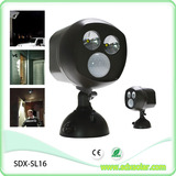 2 LED solar indoor motion sensor light