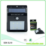 6pcs triangular solar sensor light